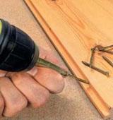 Укладка половой доски на бетонное основание