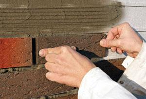 Монтаж и укладка клинкерной плитки на фасадах