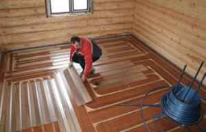 Водяной теплый пол. Легкая деревянная система